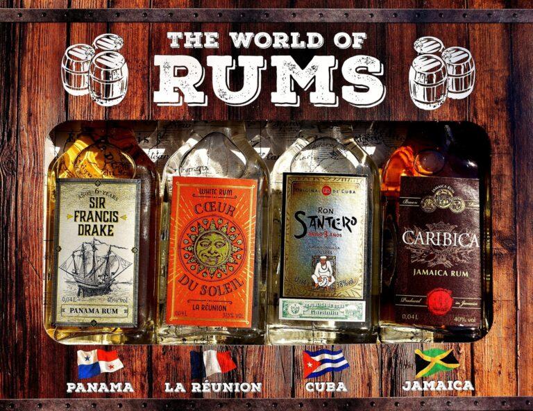 Druhy rumů se kterými se můžete setkat